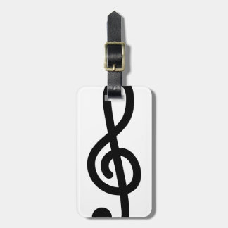 Musical G Treble clef note travel luggage tags