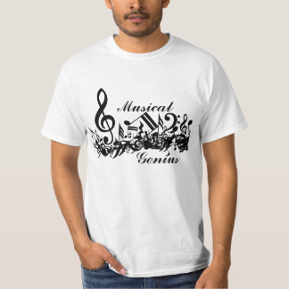 Musical genius Jumbled Musical Notes T-Shirt