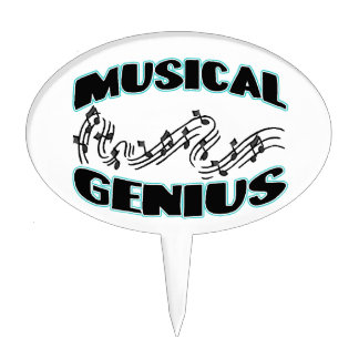 Musical Genius Music Notes Cake Toppers