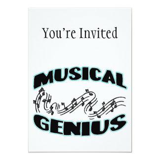 Musical Genius Music Notes 5x7 Paper Invitation Card
