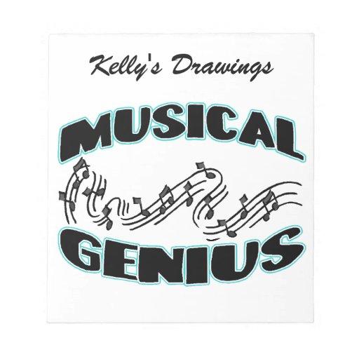 Musical Genius Music Notes Notepad