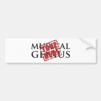 Musical genius: tone deaf rubber stamp bumper sticker