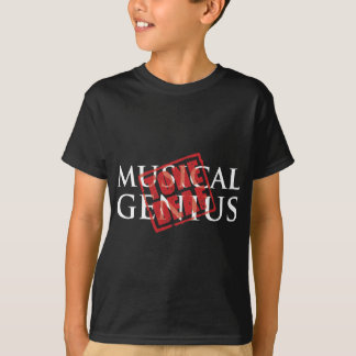 Musical genius: tone deaf rubber stamp T-Shirt