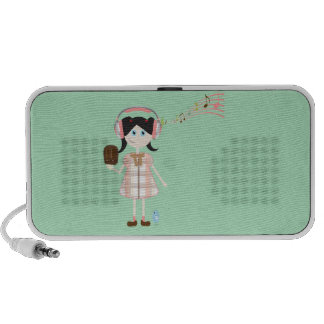 Musical Girl Doodle Speaker