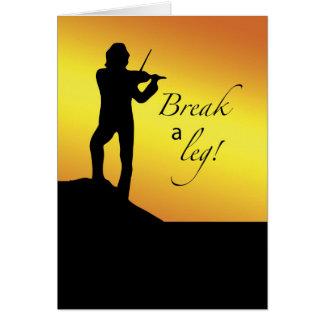 Musical Good Luck, Break a Let, Fiddler, Roof Greeting Card