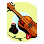 Musical gráfico del diseño del rosa de las castañu tarjetas postales