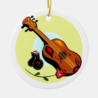 Musical gráfico del diseño del rosa de las adorno redondo de cerámica