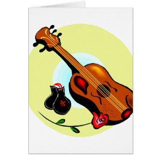 Musical gráfico del diseño del rosa de las tarjeta pequeña