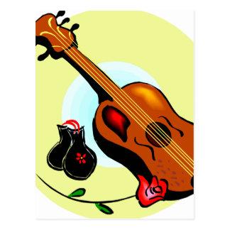 Musical gráfico del diseño del rosa de las tarjetas postales