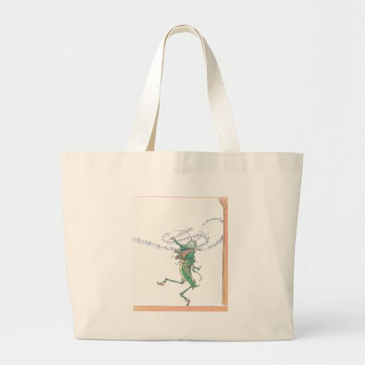 Musical Grasshopper Playing Violin Canvas Bag