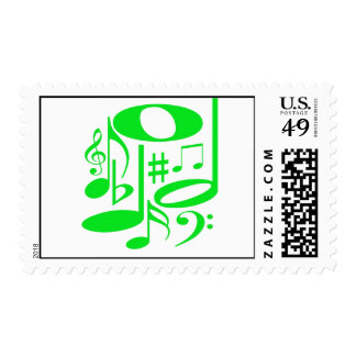 Musical Green Postage