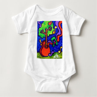 Musical Greetings by piliero Baby Bodysuit