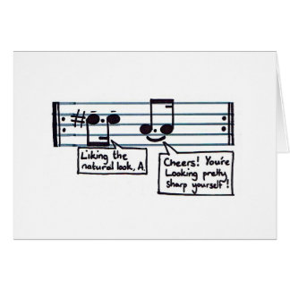 Musical Greetings Stationery Note Card