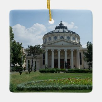 Musical Greetings from Bucharest! Ceramic Ornament