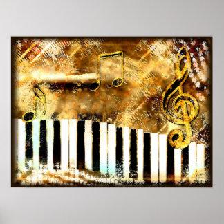 Musical Grunge Canvas Print