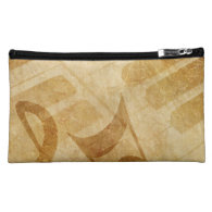 MUSICAL GRUNGE NOTES PIANO BACKGROUNDS FADED VINTA COSMETIC BAGS