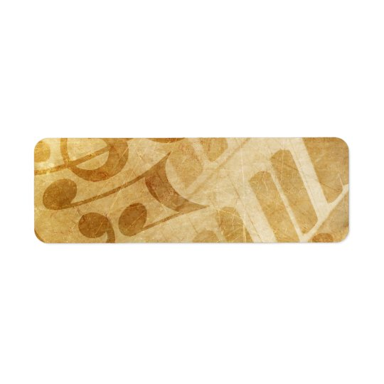 MUSICAL GRUNGE NOTES PIANO BACKGROUNDS FADED VINTA LABEL