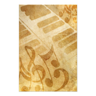MUSICAL GRUNGE NOTES PIANO BACKGROUNDS FADED VINTA PHOTOGRAPH