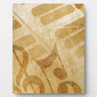 MUSICAL GRUNGE NOTES PIANO BACKGROUNDS FADED VINTA PLAQUE