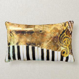 Musical Grunge Throw PIllow