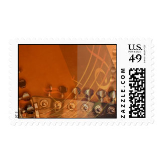 Musical Guitar Postage Stamps