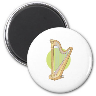musical harp 2 inch round magnet