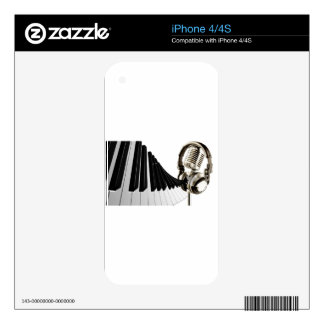 Musical Headphones Decal For iPhone 4