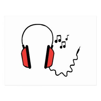 Musical Headphones Postcard