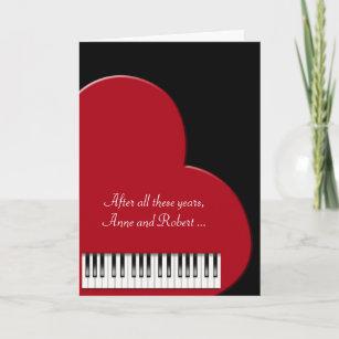 love piano cards zazzle