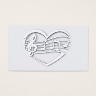 Musical heart business card