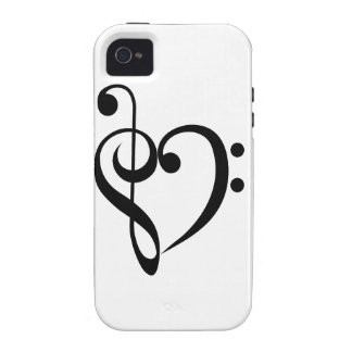 Musical Heart Vibe iPhone 4 Cover
