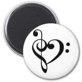Musical Heart Fridge Magnet