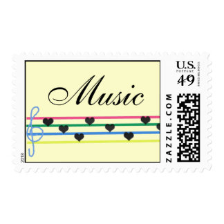 Musical Heart Notes Postage