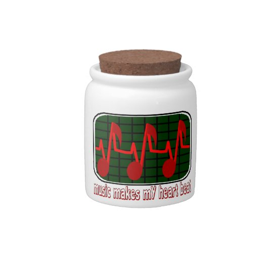 Musical Heartbeat Candy Jars