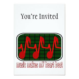 Musical Heartbeat 5x7 Paper Invitation Card