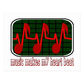 Musical Heartbeat Postcard