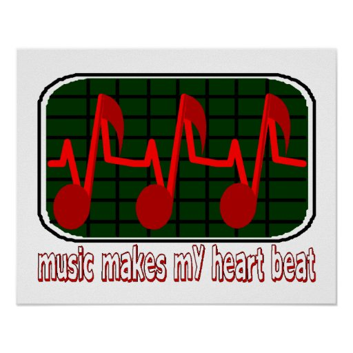 Musical Heartbeat Poster