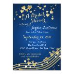 Musical Hearts Bridal Shower 5x7 Paper Invitation Card