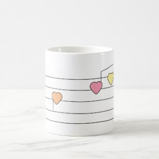 Musical Hearts Mug