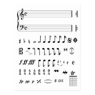 Musical Help Card Postcard