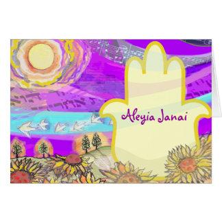 Musical Hemsa Bar Bat Mitzvah Thank You Card