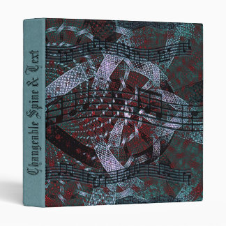 Musical Holiday Fractal Art Binder