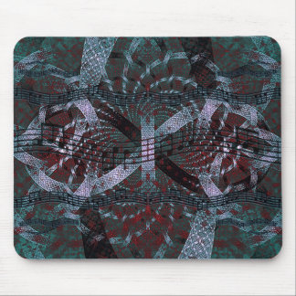 Musical Holiday Fractal Art Mouse Pad