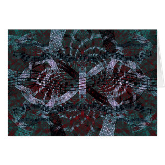 Musical Holiday Fractal Art Stationery Note Card