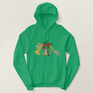 Musical Holidays Embroidered Hoodie