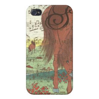 Musical Horse Monogram iPhone Case iPhone 4 Covers