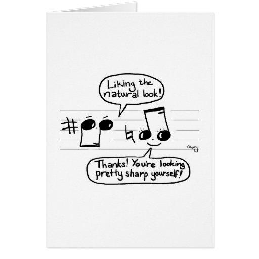 Musical Humour Cartoon Greeting Card