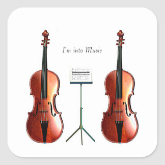 Musical image for Square-Stickers-Glossy Square Sticker