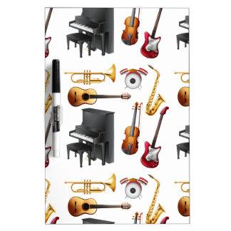 Musical inconsútil tablero blanco