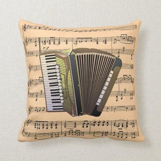 Musical Instr del ~ del fondo de la música del aco Cojines